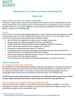 Thumbnail Image Children and Family Relationships Bill Briefing Note