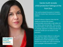 Children's Rights Alliance CEO Tanya Ward responds to child protection Garda audit