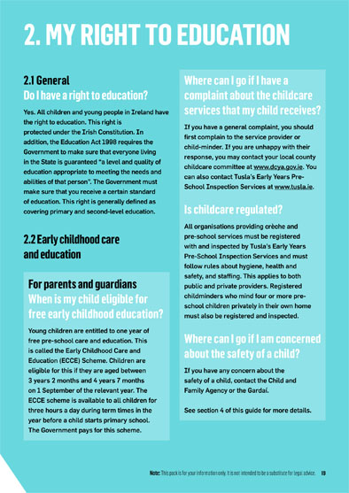 know your rights my right to education children s rights alliance know your rights right to education
